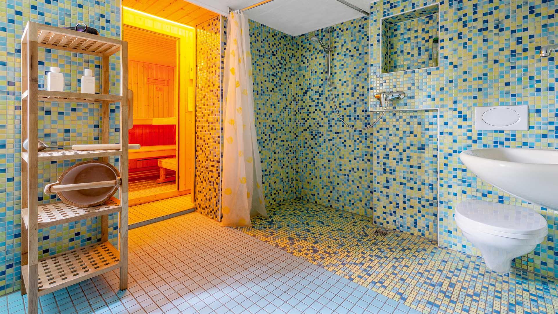 Ferienhaus am Schönwasen - Badezimmer und Sauna