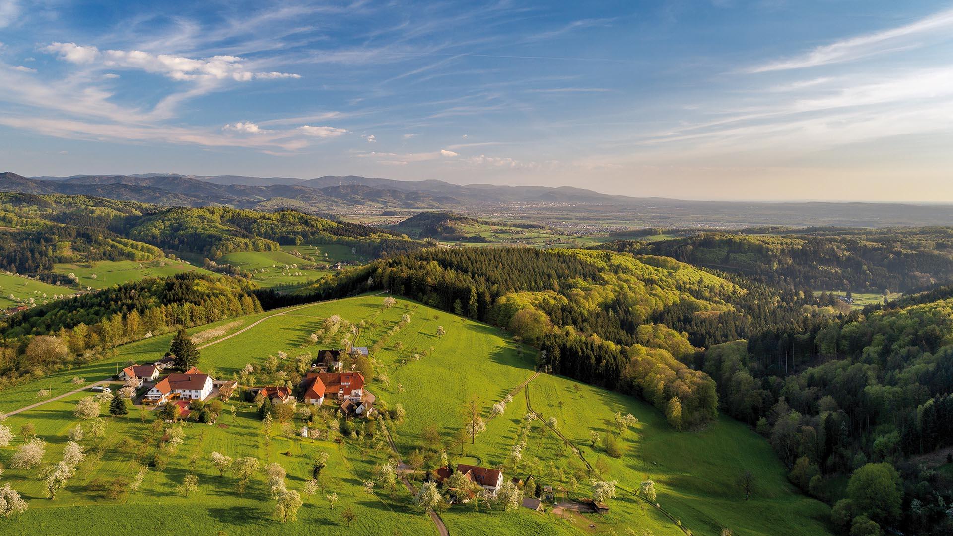 Ferienhaus am Schönwasen - Panorama Frühling
