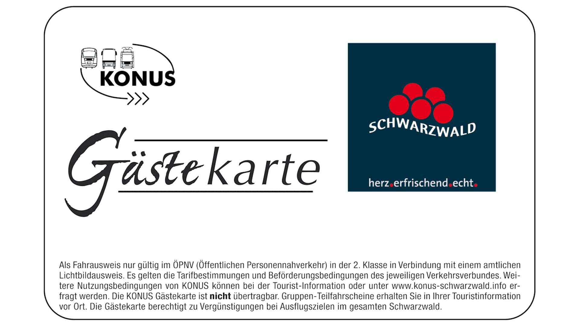 Schwarzwald  - Konus Gästekarte