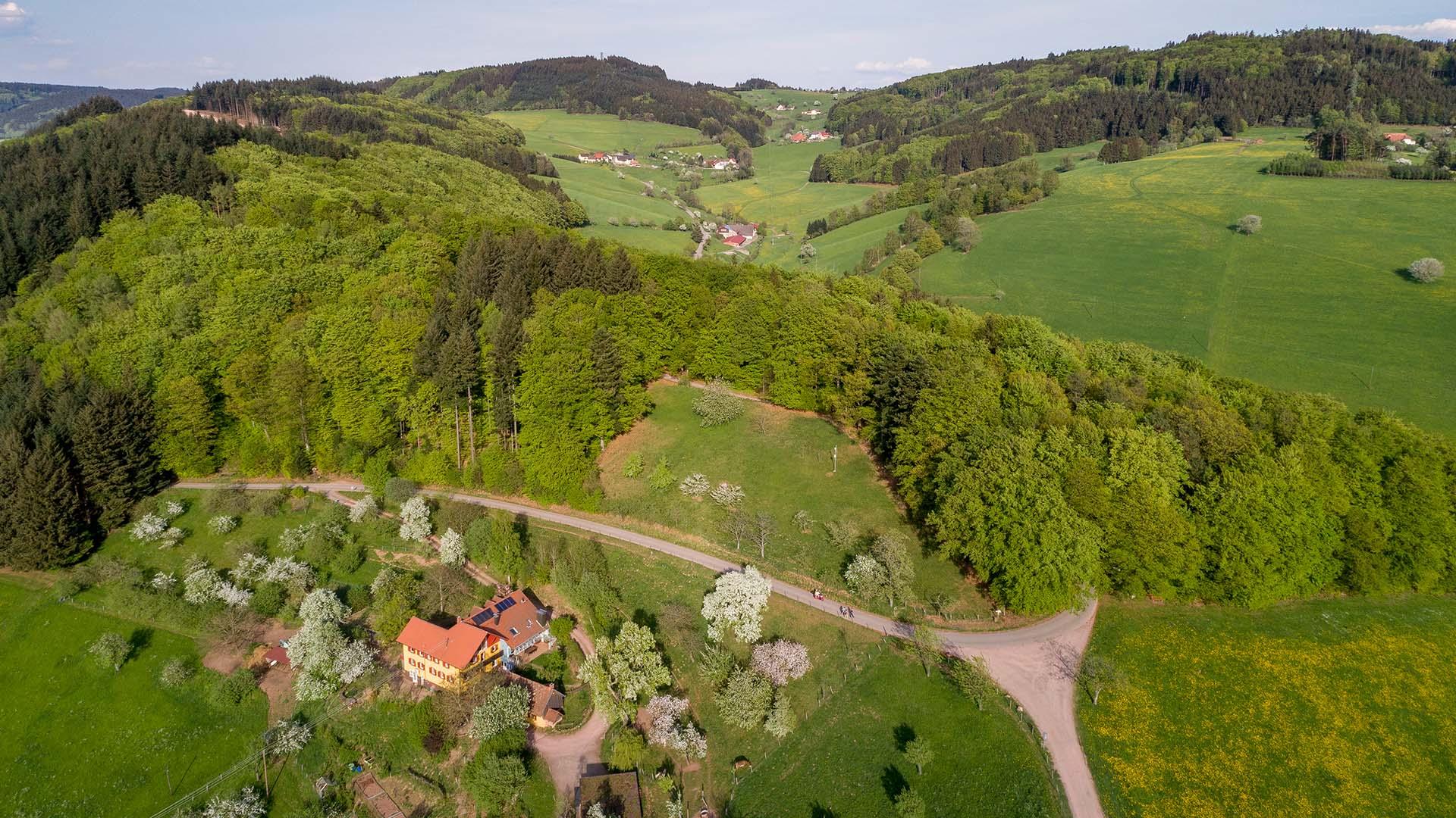 Ferienhaus am Schönwasen - Luftbild Anwesen