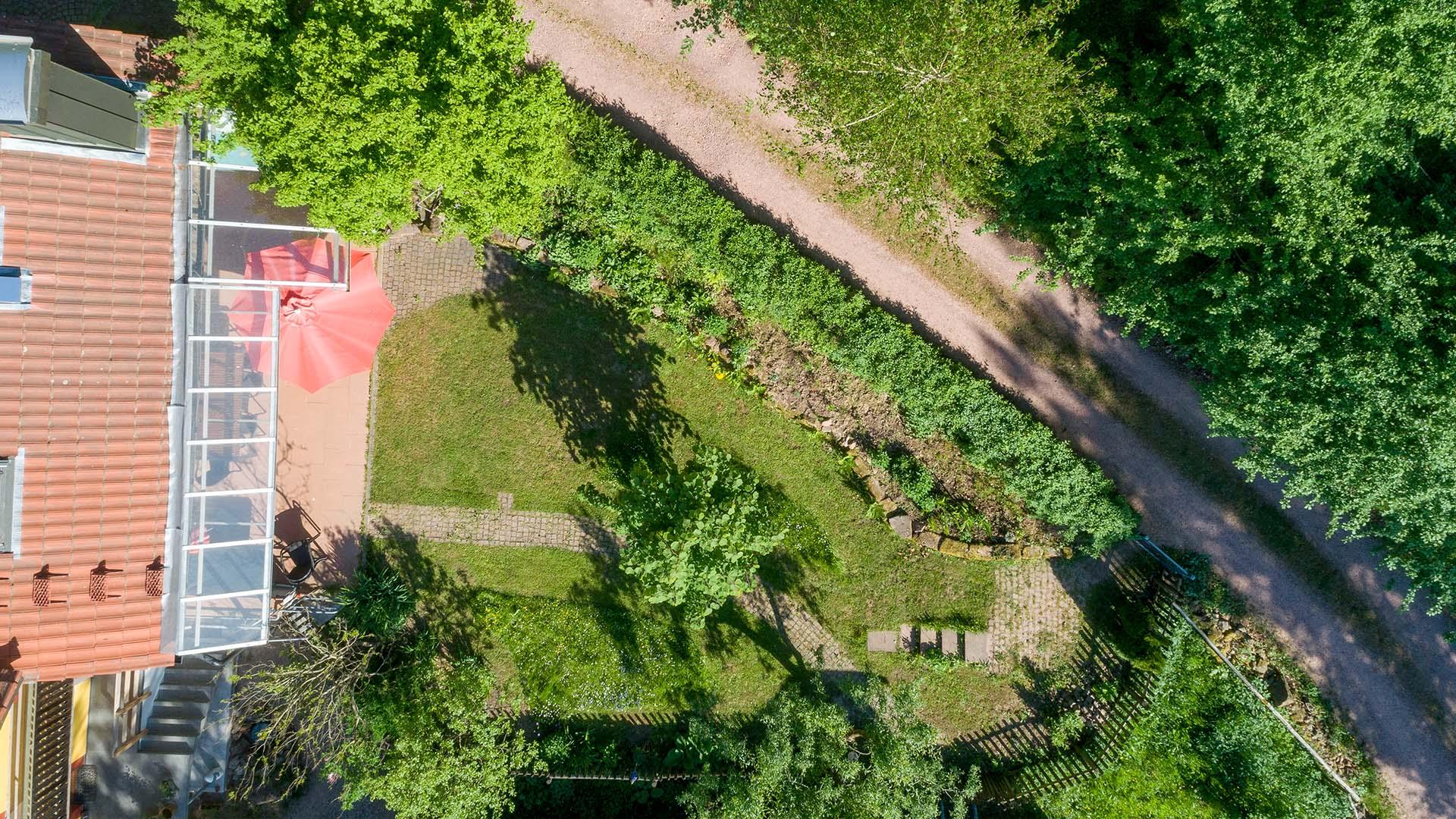 Ferienhaus am Schönwasen - Luftbild Südterrasse